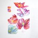 Porcelán 7., Képzőművészet, Dekoráció, Grafika, Rajz, Festészet, Fotó, grafika, rajz, illusztráció, pasztell rajz 21x30 cm berajzolt felület mérete: 12x17 cm (IKEA-s paszpartus kerethez), Meska