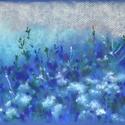 Távol a világtól (kék), Képzőművészet, Dekoráció, Festmény, Pasztell, Festészet, Fotó, grafika, rajz, illusztráció, pasztell festmény 21x30 cm, Meska