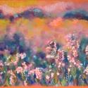 POLCSEPRÉS:) - Nyári rét, Képzőművészet, Dekoráció, Festmény, Pasztell, Festészet, Fotó, grafika, rajz, illusztráció, pasztell festmény 21x30 cm, Meska
