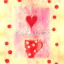 POLCSEPRÉS:) - Hol a kávém?:), Képzőművészet, Dekoráció, Festmény, Pasztell, Festészet, Fotó, grafika, rajz, illusztráció, pasztell festmény 21x30 cm arany festékkel van alapozva; fénylik a kép:), Meska