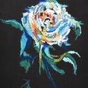 Rózsa, Képzőművészet, Dekoráció, Grafika, Rajz, Festészet, Fotó, grafika, rajz, illusztráció, pasztell rajz 17x23 cm Kiinduló tanulmány papír falikárpithoz:), Meska