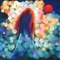Lufis lány, Képzőművészet, Dekoráció, Festmény, Pasztell, Festészet, Fotó, grafika, rajz, illusztráció, pasztell festmény 40x30 cm, Meska