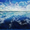 Tanulmány - felhők, Képzőművészet, Dekoráció, Festmény, Pasztell, Festészet, Fotó, grafika, rajz, illusztráció, pasztell festmény 50x65 cm, Meska