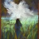 Vihar , Képzőművészet, Dekoráció, Festmény, Pasztell, Festészet, Fotó, grafika, rajz, illusztráció, pasztell festmény 21x30 cm fotó alapján, Meska
