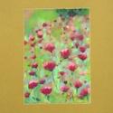 Kis virágok, Képzőművészet, Dekoráció, Festmény, Pasztell, Festészet, Fotó, grafika, rajz, illusztráció, pasztell festmény 21x30 cm belső méret: 12x17 cm (IKEA-s paszpartus kerethez), Meska
