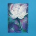 Virág, Képzőművészet, Dekoráció, Festmény, Pasztell, Festészet, Fotó, grafika, rajz, illusztráció, pasztell festmény 21x30 cm belső méret: 12x17 cm (IKEA-s paszpartus kerethez), Meska
