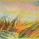 Part, Képzőművészet, Dekoráció, Festmény, Pasztell, pasztell festmény 40x30 cm, Meska