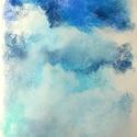 Tanulmány - felhők, Képzőművészet, Dekoráció, Festmény, Pasztell, Festészet, Fotó, grafika, rajz, illusztráció, pasztell festmény 23x33 cm, Meska