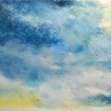 Tanulmány - felhők, Képzőművészet, Dekoráció, Festmény, Pasztell, Festészet, Fotó, grafika, rajz, illusztráció, pasztell festmény 33x23 cm, Meska