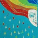 Csepp, Képzőművészet, Dekoráció, Grafika, Rajz, Festészet, Fotó, grafika, rajz, illusztráció, pasztell rajz 21x30 cm, Meska