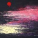 Égbolt, Képzőművészet, Dekoráció, Festmény, Pasztell, pasztell festmény 30x21 cm, Meska