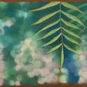 Leveles ág, Képzőművészet, Dekoráció, Festmény, Pasztell, pasztell festmény 30x21 cm fotó alapján, Meska
