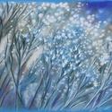 POLCSEPRÉS:) Apró virágos , Képzőművészet, Dekoráció, Festmény, Pasztell, Festészet, Fotó, grafika, rajz, illusztráció, pasztell festmény 30x21 cm fotó alapján, Meska