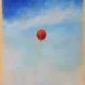 Kis lufi, Képzőművészet, Dekoráció, Festmény, Pasztell, pasztell festmény 29.7x21 cm, Meska