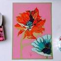 Tanulmány - virágfejek, Képzőművészet, Dekoráció, Festmény, Pasztell, pasztell festmény A/4, Meska
