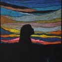 Hajnal, Képzőművészet, Dekoráció, Festmény, Pasztell, Festészet, Fotó, grafika, rajz, illusztráció, pasztell festmény 30.5x23 cm, Meska