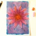 Tanulmány - virágfej, Képzőművészet, Dekoráció, Festmény, Pasztell, pasztell festmény 20x14 cm, Meska