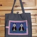 Baglyocskák - vászon bevásárló táska