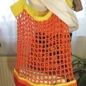 Horgolt bevásárlótáskák, Táska, Divat & Szépség, Táska, Szatyor, Válltáska, oldaltáska, Ezek a kézzel horgolt strand vagy bevásárló táskák 100% pamutfonalból készültek. Kitűnő megoldás a k..., Meska