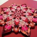 Piros csakra quilling mandala kép  3D exkluzív keretben, Otthon & Lakás, Mandala, Dekoráció, Papírművészet, A gyökércsakrát támogató, kézzel készített quilling mandalakép megjelenése spirituális jelentése me..., Meska