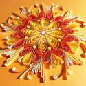 Narancssárga csakra quilling mandala kép  3D exkluzív keretben, Otthon & Lakás, Mandala, Dekoráció, Papírművészet, A szakrális csakrát támogató, kézzel készített quilling mandalakép megjelenése spirituális jelentés..., Meska