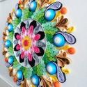 """""""Energia és teljesség"""" quilling mandala kép 3D exkluzív keretben, Otthon & Lakás, Mandala, Dekoráció, Papírművészet, A kézzel készített quilling mandalakép megjelenése spirituális jelentése mellett exkluzív darabja a..., Meska"""