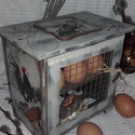 tyúkketreces tojástartó, Nagy szeretettel készítettem, ezt a tojástartó...