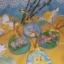 húsvéti függődíszek, 4 db. húsvéti függődísz, melyek kedves dísze...