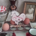 nagyi kakasos tojástartója, Dekoráció, Konyhafelszerelés, Otthon, lakberendezés, Tárolóeszköz, Régi időket idéző, kedves , kakasos tojástartó, melynek alapanyaga fa. Mérete: 20 cm. x 12 cm. x 16 ..., Meska