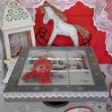 """kislány au ablakban - karácsonyi nosztalgia doboz ,  """"Jégvirág, jégvirág, ablakon túl a világ de..."""