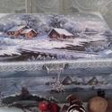 """havas tájkép - karácsonyi nosztalgia doboz, """"?A tél ölelésében tudja meg az ember, hogy le..."""