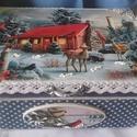 """öreg-néne  őzikéje  - karácsonyi  nosztalgia doboz, """"Tél az úr az erdőn, fagy mar fűbe, fába. Jé..."""