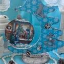 karácsonyi asztaldísz - nosztalgia képpel , Dekoráció, Ünnepi dekoráció, Karácsonyi, adventi apróságok, Karácsonyi dekoráció, Nagyon sok szép karácsonyi termékkel készültem, melyeket folyamatosan töltök fel., ha tetszenek , ér..., Meska