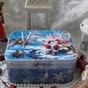 Mikulás járt az erdőben - karácsonyi nosztalgia doboz, Nagyon sok szép karácsonyi termékkel készülte...