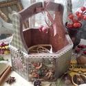 karácsonyi nosztalgia kosár, Nagyon sok szép karácsonyi termékkel készülte...