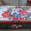 macik karácsonya - karácsonyi doboz, Nagyon sok szép karácsonyi termékkel készülte...