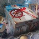 """tengerészlány - nosztalgia doboz, Dekoráció, Otthon, lakberendezés, Tárolóeszköz, Doboz, """"Ki kell úsznunk a komfortzónánkból, hogy egy hullám megváltoztassa az életünket.""""   A doboz alapany..., Meska"""