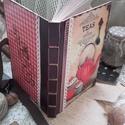 nosztalgia receptes , Konyhafelszerelés, Otthon, lakberendezés, Dekoráció, Receptfüzet, A 5-ös méretű könyvkötővel köttetett, natúr nosztalgia hatású lapokból áll, kb. 80 oldalas, kemény f..., Meska
