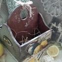 citromos két fakkos kosár, A kosár két fakkos, fából készült, mérete: ...