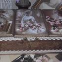 három fakkos rózsás, nosztalgia doboz, Alapanyaga: fa MÉrete: 30 x 14 x 10 cm. Három fa...