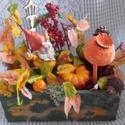 ősz húrja - őszi asztaldísz, Otthon, lakberendezés, Dekoráció, Asztaldísz, Ünnepi dekoráció, Nagy-nagy szeretettel készítettem, az ősz színeiben pompázó asztaldíszt, mely szép dísze lehet lakás..., Meska