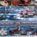 Mikulás az erdőben - karácsonyi nosztalgia doboz, 2018. karácsony!  A doboz alapanyaga fa, tartóss...