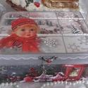 kislány a téli ablakban - karácsonyi nosztalgia doboz