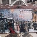 téli séta a párizsi utcán - karácsonyi nosztalgia bőrönd
