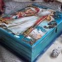 Mikulásos könyvdoboz - karácsonyi nosztalgia doboz, 2018. karácsony!  A doboz alapanyaga fa, tartóss...