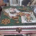 karácsonyi mesedoboz - karácsonyi nosztalgia doboz, Otthon, lakberendezés, Dekoráció, Tárolóeszköz, Doboz, 2018. karácsony!  A doboz alapanyaga fa, tartóssága érdekében több soron lakkozott. Mérete: 20 cm. x..., Meska