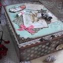 Mikulásnak írt levél - karácsonyi nosztalgia doboz, Dekoráció, Otthon, lakberendezés, Tárolóeszköz, Doboz, 2018. karácsony!  A doboz alapanyaga fa, tartóssága érdekében több soron lakkozott. Mérete: 21 cm. x..., Meska