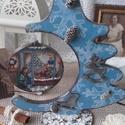 karácsonyi asztaldísz, Dekoráció, Otthon, lakberendezés, Asztaldísz, Ünnepi dekoráció, 2018. karácsony!  A fenyő és a függő alapanyaga fa, tartóssága érdekében több soron lakkozott. Méret..., Meska