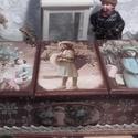 három fakkos karácsonyi nosztalgia doboz, Dekoráció, Otthon, lakberendezés, Tárolóeszköz, Alapanyaga: fa, Mérete: 30 x 14 x 10 cm., Meska