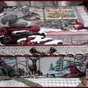 mókus és őzike - karácsonyi nosztalgia doboz, Dekoráció, Karácsonyi, adventi apróságok, Otthon, lakberendezés, Ünnepi dekoráció, Karácsonyi dekoráció, A doboz alapanyaga fa, tartóssága érdekében több soron lakkozott. Mérete: 21 cm. x 16 cm. x 9 cm. Fo..., Meska